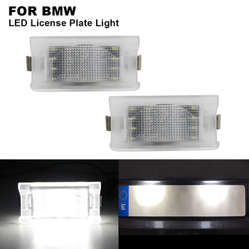 2 pieces 12V Car Clear Canbus Auto LED License Number Plate Light Tail Light White Light For BMW E34 Touring 1987-1996 image