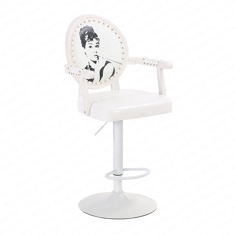 30%  European Bar Stool Chair Modern Minimalist Rotating Bar Chair High Stool Cash Register Chair Back Stool Home