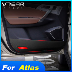 Vtear for Geely Atlas Emgrand NL-3 Proton X70 car anti kick sticker carbon fiber mat door anti scratch styling accessories auto