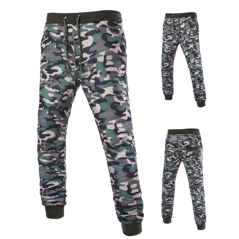 2019 Men New Style Camouflage Athletic Pants Casual Versatile Athletic Pants Special Offer Camouflage Trousers Y135