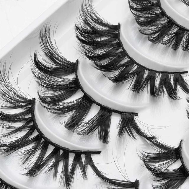 8/20 Pairs 3D Mink Lashes Natural False Eyelashes Dramatic Volume Fake Lashes Makeup Eyelash Extension Silk Handmade Eyelashes 5