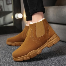 Men Boots Mens Winter Shoes Fashion Snow Sneakers Ankle Black Brown Footwear
