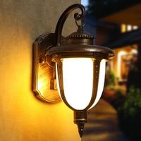 Rustic Light Fixtures,Outdoor Wall Light Fixtures, Retro Iron Exterior Wall Sconces for Porch Garage Patio Bedrooms Living Rooms