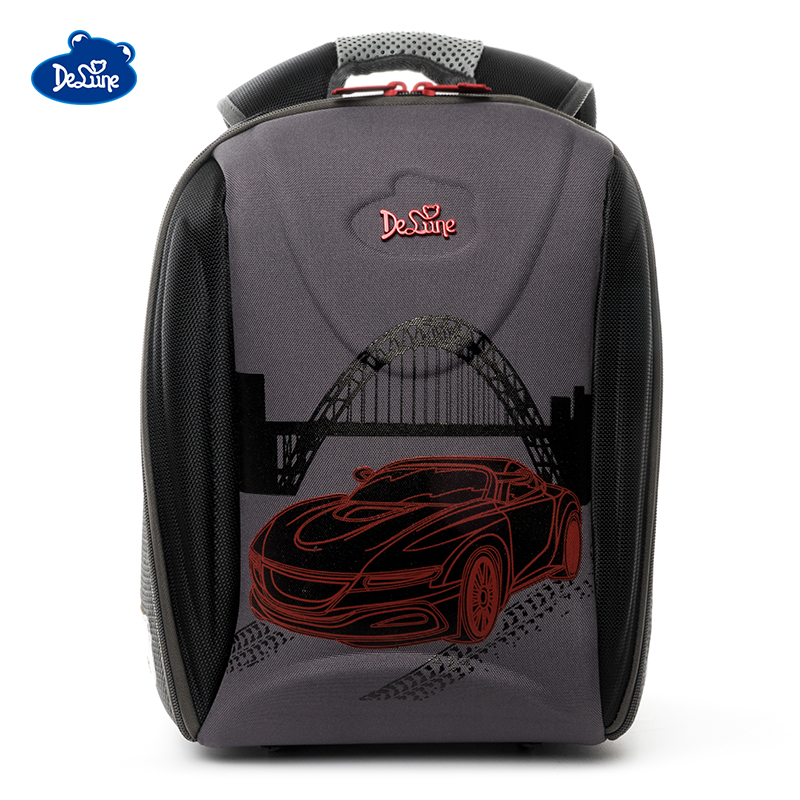 Delune New Orthopedic Schoolbag Girls Fashion Brand Primary Grade 1 5 Cartoon Bear Backpacks Kids Waterproof