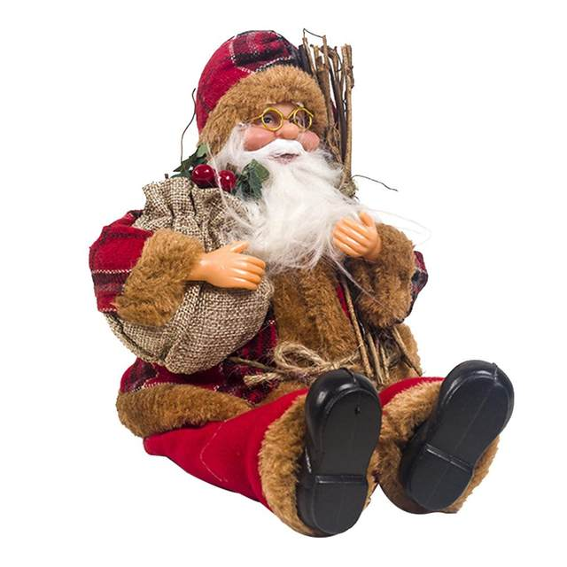 2019 Xmas New-Year Santa Claus Sitting Christmas Big Doll Fabric Kid Toys Gift Christmas Decorations For Home Table Ornament 18