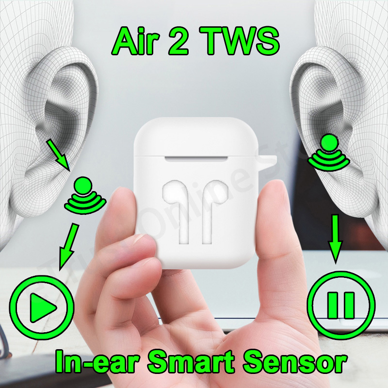 Беспроводные наушники Air 2, Bluetooth 5,0, функция 1:1, чип 1536, Bluetooth-гарнитура, беспроводные наушники с микрофоном, PK i90000 TWS наушники