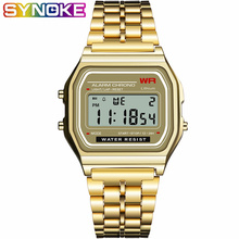 SYNOKE Retro Watch Women GOLD Brand Metal Watch Relogio Masc