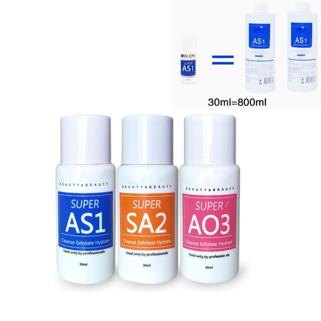 Serum Aqua Peeling Solution Skin Clear Essence Product Hydra Facial Serum for Hydrafacial Machine Skin Deep Cleaning 30ml=800ml
