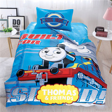 Thomas children's bedspread quilt cover pillowcase combination bedding 4 pieces of children's room dress up gift party gift
