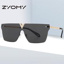 Q markowe designerskie okulary kwadratowe bezramowe okulary okulary osobiste duże okulary przeciwsłoneczne damskie Unisex Очки Солнцезащитные Uv400 tanie tanio zyomy CN (pochodzenie) WOMEN SQUARE Dla dorosłych Z tworzywa sztucznego NONE 50mm Akrylowe 64mm 200001267 200001267 200002146 200002146