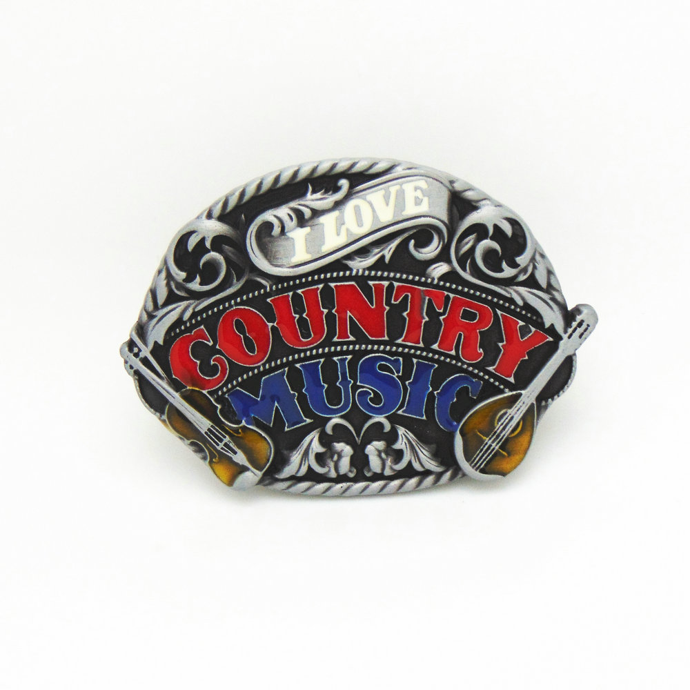 Western Cowboy Belt Buckle Music Drip Oil Zinc Alloy Men's Personality Belt Buckle