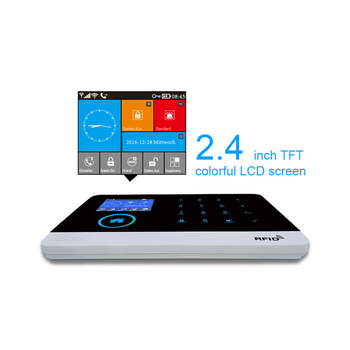 GT APP Remote Control Alarm panel Switchable 8 languages Wireless Home Security WIFI GSM GPRS Alarm system RFID card Arm Disarm 1