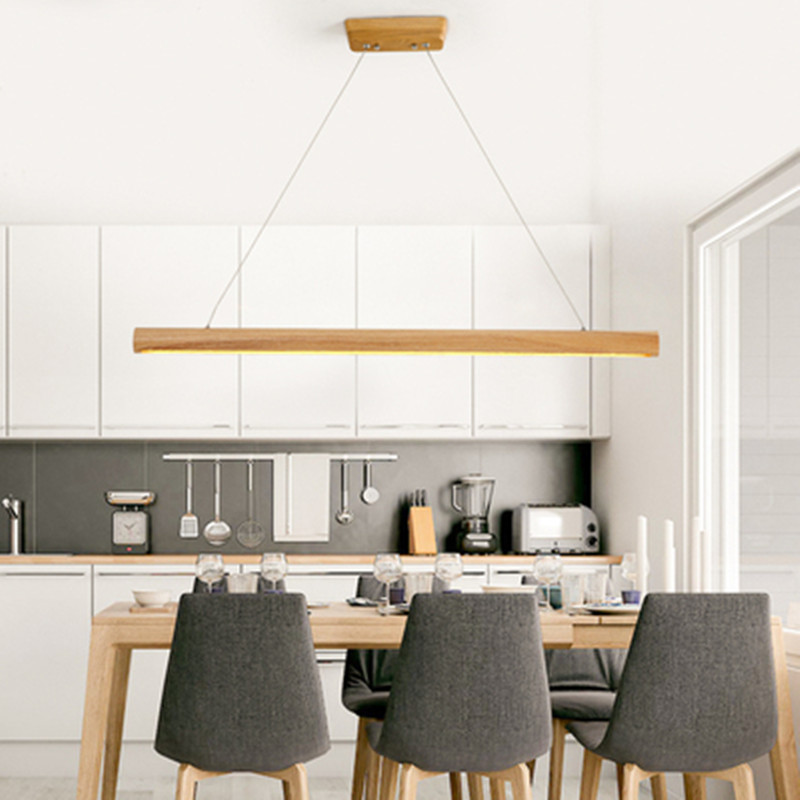 Nordic Pendant Lights Wood Lighting Fixtures With Acrylic Lampshade Office Bar Decorative Square Pendant Lamp Modern Hanglamp