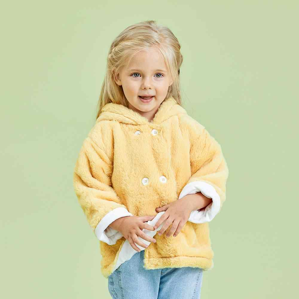 PatPat 2020 новое зимнее пальто с капюшоном и заячьими ушками для маленьких девочек