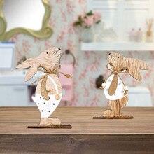 2021ハッピーイースター装飾ウサギイースター木製の装飾品イースターパーティーイースターためwielkanoc