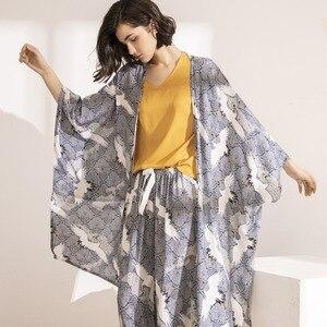 Image 5 - QWEEK Women Pajamas Sets 3 Piece Floral Printed Pijamas Set Top and Shorts Pyjamas Sleepwear Night Suit Set Home Clothes 2020
