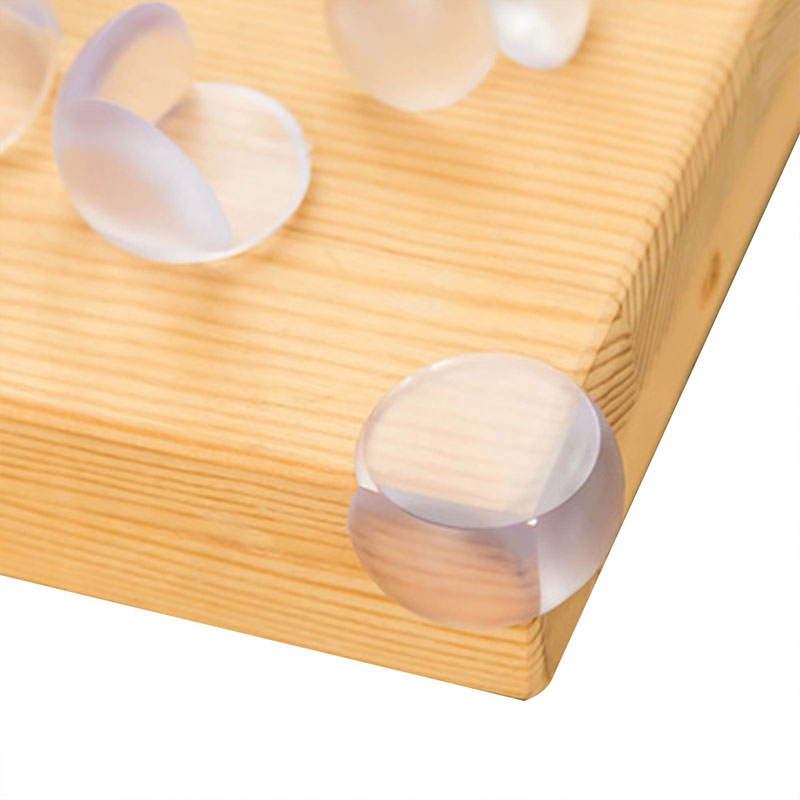 4pcs Silicone Protector Table Corner Manual Edge Banding Protection Cover Soft Furniture Edge Banding Baby Safety Anti-collision