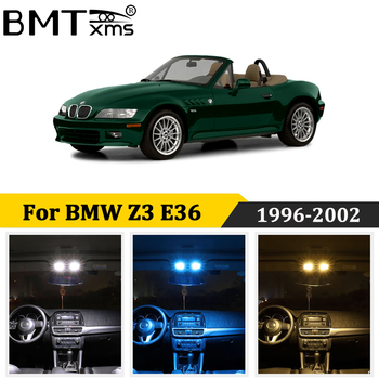 BMTxms 8Pcs White No Error Canbus led Car interior indoor light Package For BMW Z3 E36 Roadster Coupe Convertible 1996-2002 image