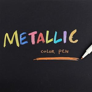Image 3 - 10pcs/set Metallic Marker Pen Art Marker colourful Cute plastic Supplies stationery Scrapbooking Crafts