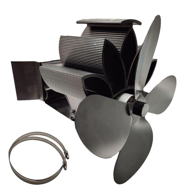 4 Blades Aluminum Silent Eco-Friendly  Heat Powered Fireplace Stove Hanging Fireplace Fan For Wood Log Burner Ecofan