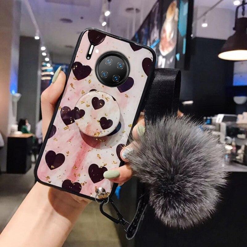 Epoxy Silicon Luxury Gold Foil Retro Love Heart Cover Case,For Huawei Mate 10 20 30 Pro Mate30 Mate 20Pro Anti-Fall Phone Case