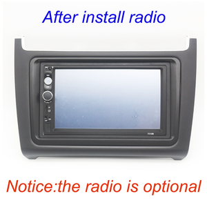 Image 5 - ABS פנים דאש מרכז קונסולת מחזיק Trim לוח פנל רדיו DVD לוחית מסגרת עבור פולקסווגן פולו 2014 2017 מסגרת ערכת