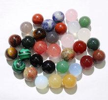 Commercio all'ingrosso 50pcs di Pietra Naturale agate lapis cristallo 10mm No hole Perline turchesi Rotonda Perline di Pietra Per Gioielli FAI DA TE che fanno