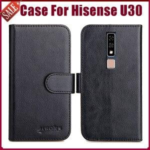 Лидер продаж! Чехол Hisense U30 6,3 дюйма, 6 цветов, мягкие кожаные для телефона, чехол-бумажник для Hisense U30, чехол с подставкой и отделениями для карт