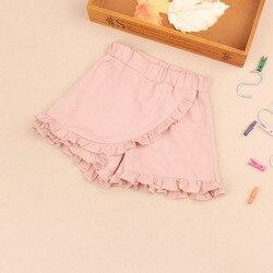 Summer Baby Girl Shorts Cotton Toddler Kids Beach Pants Ruffle Skirt Short for Teenage Schoool Girls Children Clothes 4-16Years