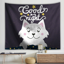 Cartoon Animals Series Wall Hanging Tapestry Horse Elephant Printed Polyester Tapestries Childrens Room Decoration Picnic Rug