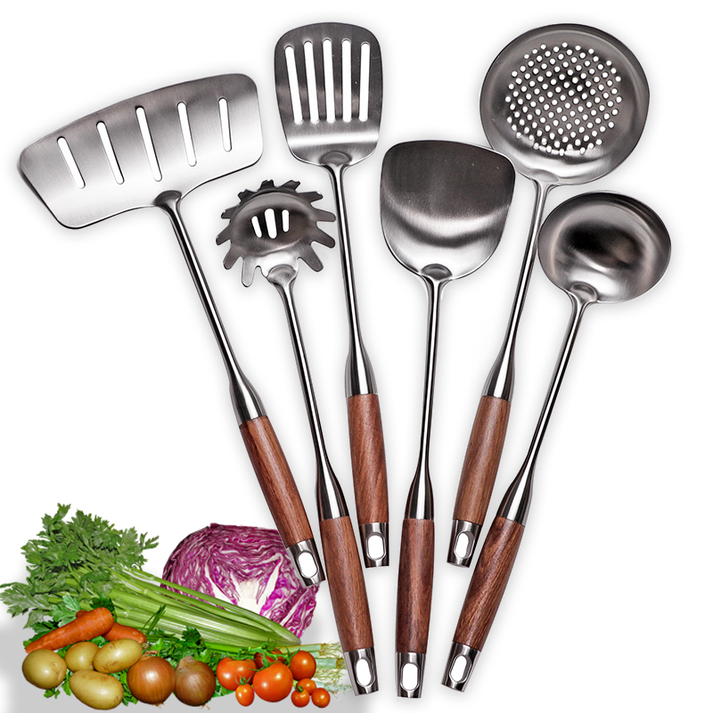 Kitchen Cooking Utensils, Turner/ Soup Ladle/ Slotted Turner/ Slotted Spoon/ Pasta Server, 304 Staniless Steel