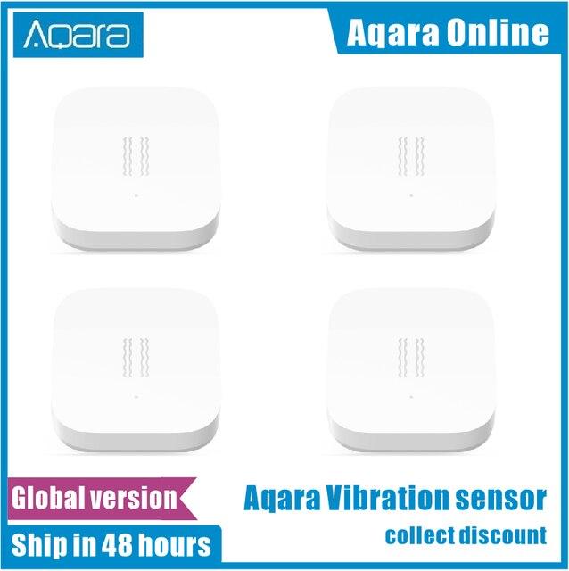 Versão global aqara sensor de vibração choque sensor de sono objetivos de monitoramento de alarme choque de vibração trabalho mi home app