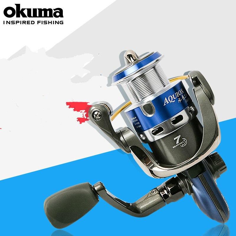 Okuma 1000s-5000s Fishing Reel Fishing Spinning Reel Carp Fishing Reels 5.0:1 6+1 BB Rock Fishing Reel Wheel Carretilha De Pesca
