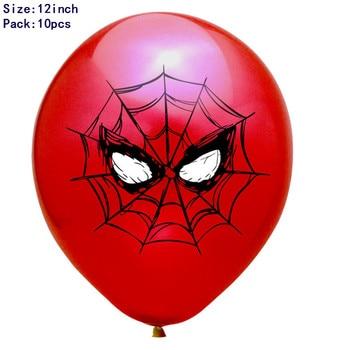 1set 3D Big Spider Supper Hero Man Mylar Foil Balloon Number Foil Balloons Birthday Party Decoration Supplies Children's Gifts 27