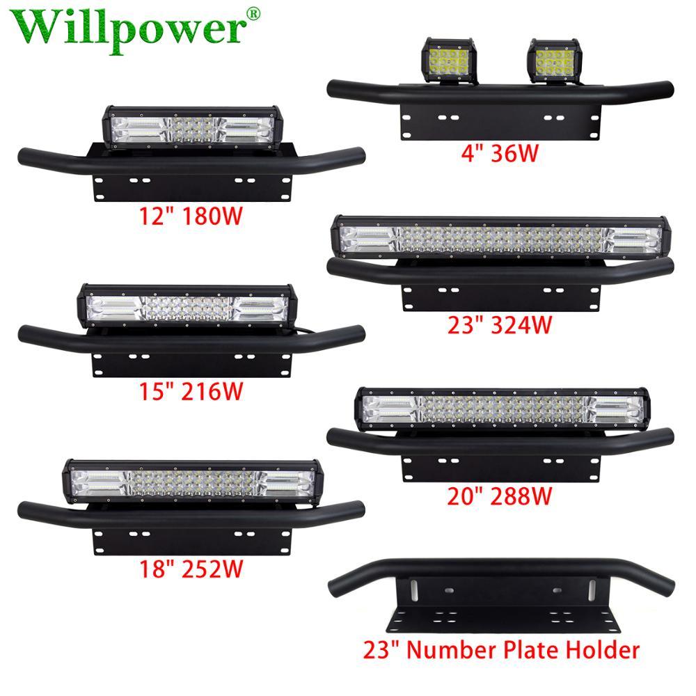 """SUV Car 23 """"uchwyt na tablicę rejestracyjną w/ 4"""" 12 """"15"""" 18 """"20"""" listwa świetlna LED Offroad 4WD 4x4 ciężarówka tri-row reflektor przeciwmgielny reflektor"""