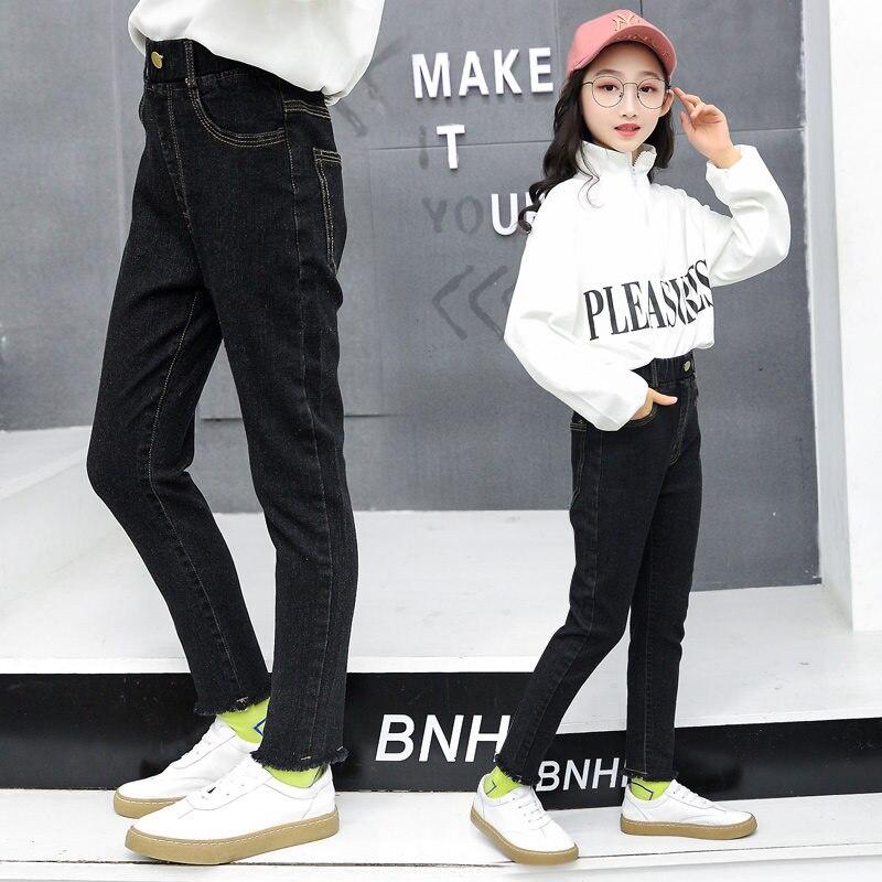 Pantalones Vaqueros Para Nina De 12 Anos Jeans De Color Negro Para Nina 4 5 7 9 11 13 14 Anos Otono Y Primavera Pantalones Vaqueros Aliexpress