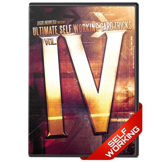 Ultimate Self Working Card Tricks Volume 4 By Big Blind Media - Magic Tricks