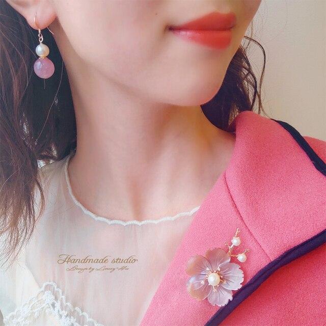 Купить ccijing пресноводный жемчуг ракушка цветок для женщин свитер картинки