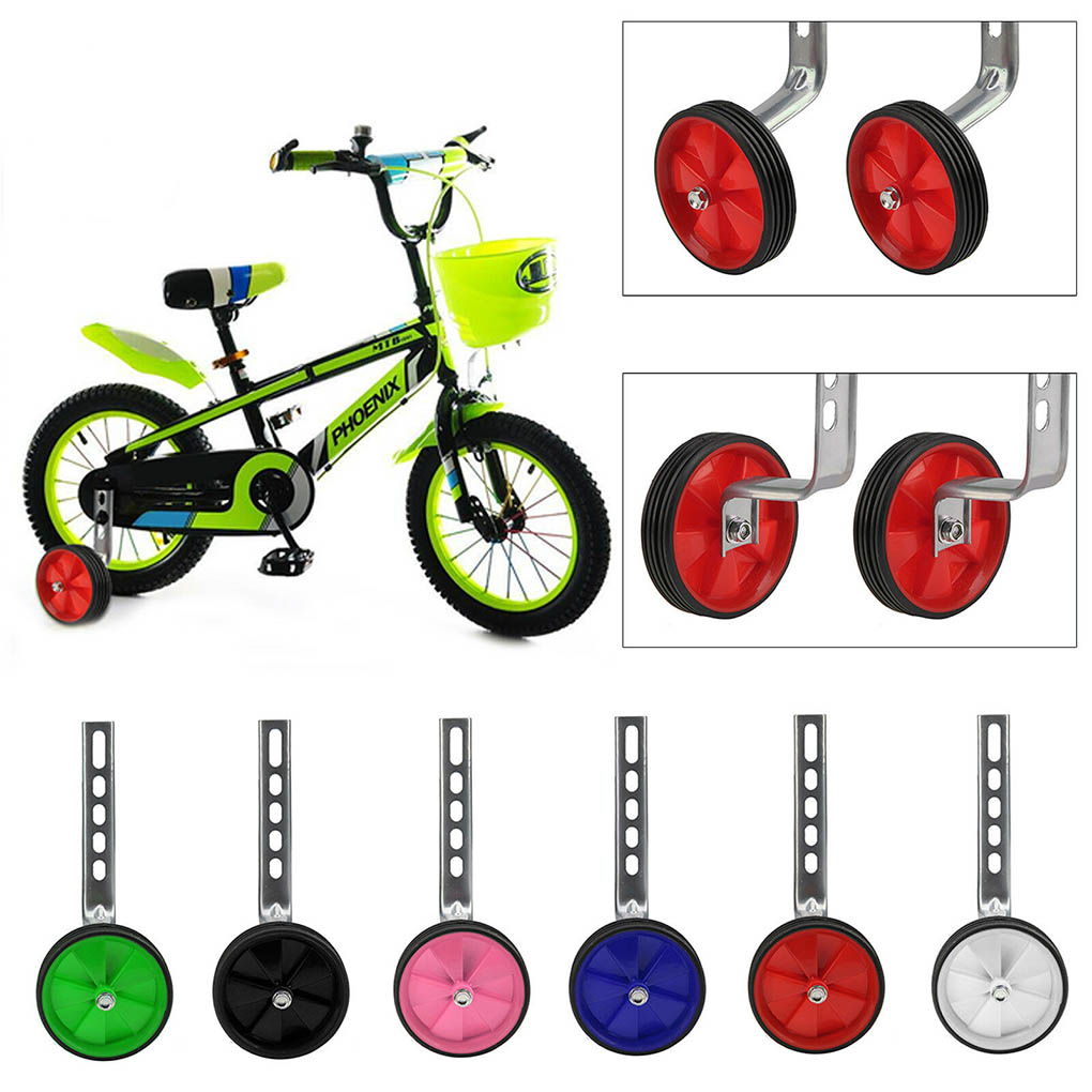 "Universal Bicycle Training Wheels 12-20/"" Children Bike Side Wheels Stabiliser"