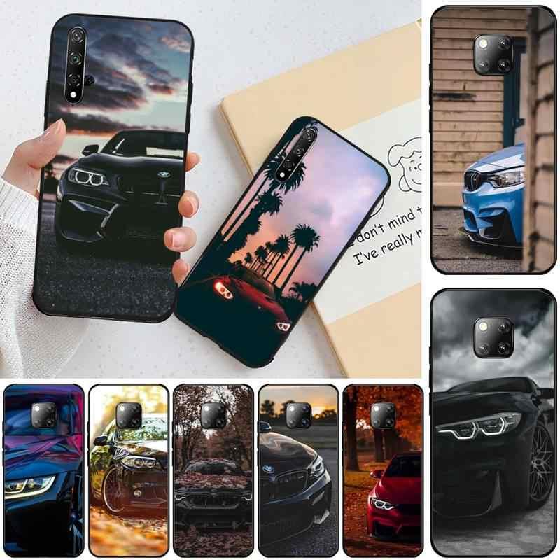 Niebieski czerwony samochód dla Bmw TPU czarny telefon skrzynki pokrywa kadłuba dla Honor 20 20lite view20 7C 8C 7A 8A 10i 20i grać 9X Pro