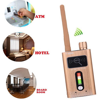 T6000 RF Signal Detector Anti Candid Hidden Camera Spy Gadgets Espias GSM GPS Tracker Wireless Audio Bug for Wiretapping Finder 4