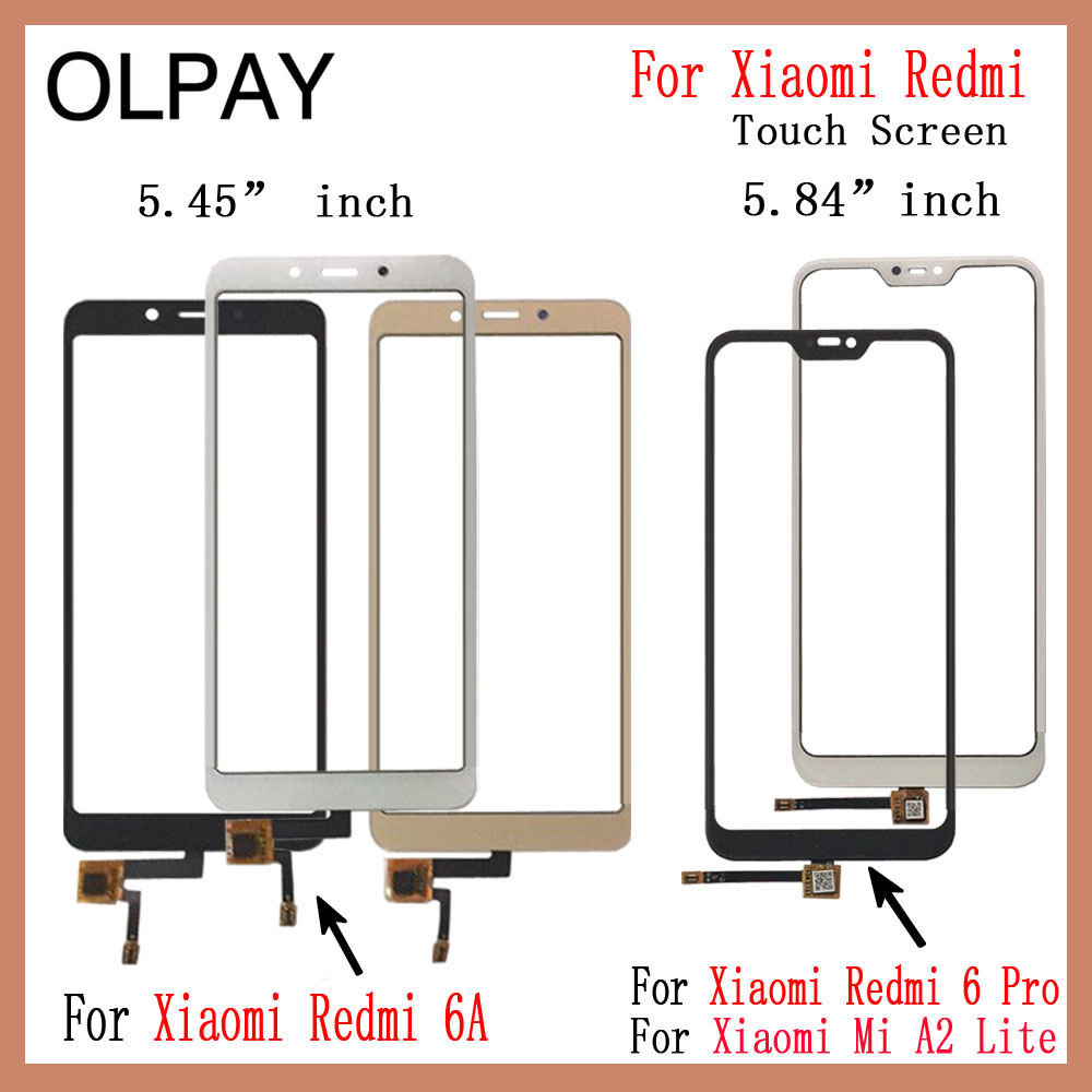 For Xiaomi Redmi 6A Redmi 6 Pro Touch Screen Digitizer For Xiaomi Mi A2 Lite Touch Panel Touchscreen Sensor Front Glass