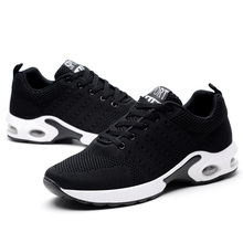 Men Air Cushion Sneakers Breathable Running Shoes Men Women Outdoor Fitness Sports Shoes Female Lace-up Casual Shoes Big Size