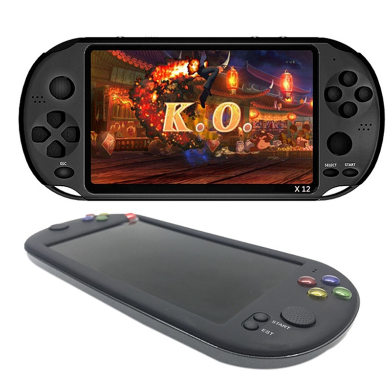 Powkiddy 1Pcs 7 Inch Game Console Portable Support for Neogeo Arcade Video Games & 1Pcs 5.1 Inch 8G Retro Game Console HD Screen
