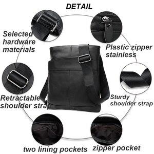 Image 5 - MVA męska torba na ramię dla mężczyzn lśniąca skóra mała torba kurierska męska skórzana crossbody/męskie torby dla mężczyzn torebka 703