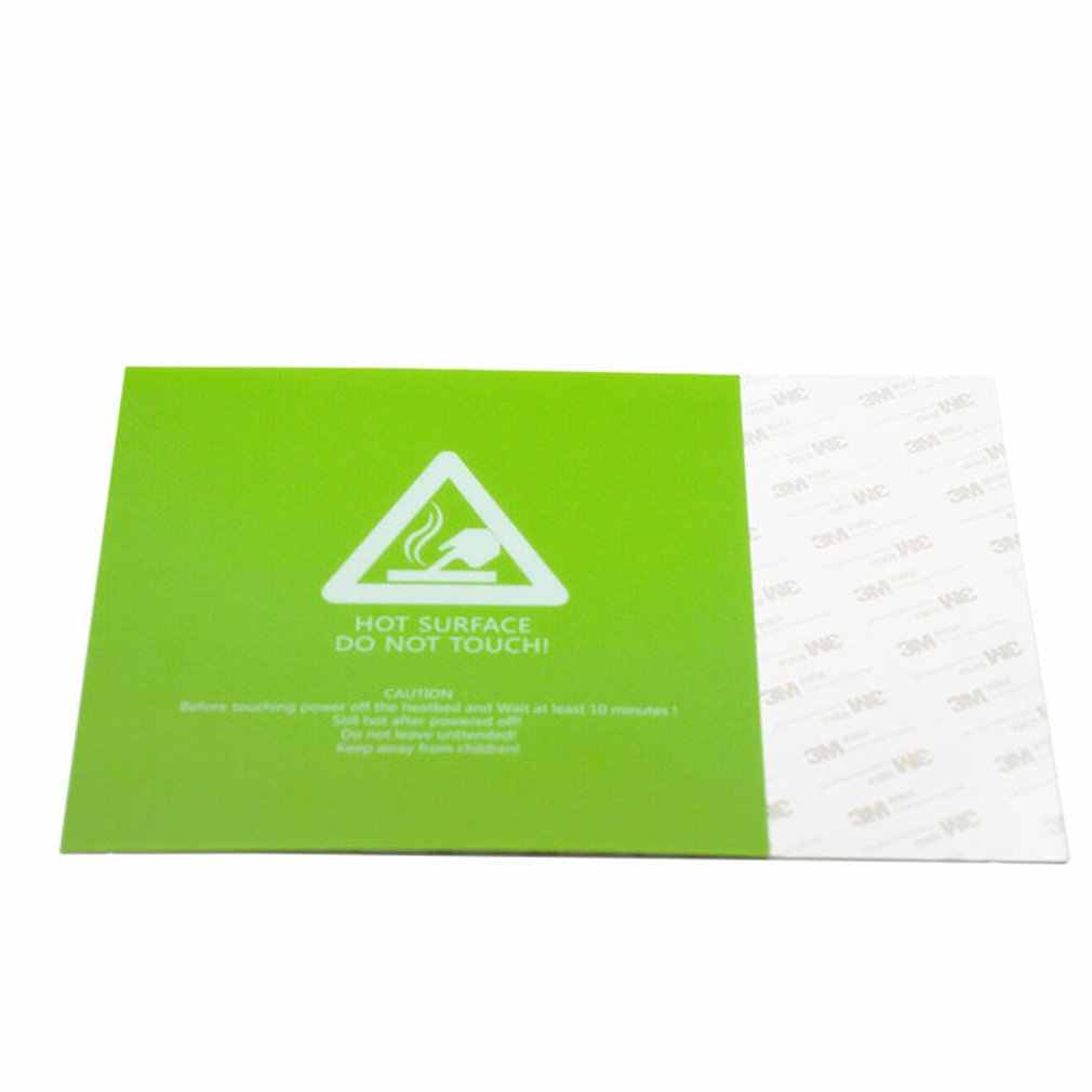 Hijau Ranjang Hangat Square Frosted Hot Bed Permukaan Sticker PLA ABS Pinggul PETG TPE Filamen 3D Printer Bagian Ukuran 300*300*0.5 Mm