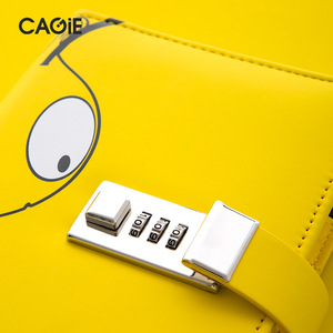 Image 4 - Kawai A6 מתכנן יומן עם מנעול דבורה מחברת הניתן לנעילה עור מפוצל פנקס נוסע יומן DIY סדר יום כתיבה ספר מתנות