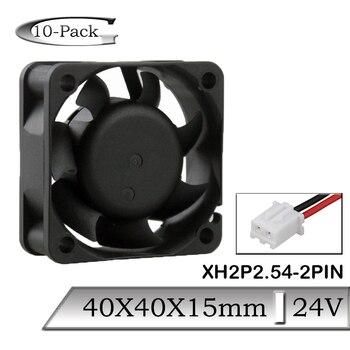10 Pcs Gdstime Cooler Fan 40mm 40mmx15mm 2Pin Heatsink Fan 40x40x15mm 24V Brushless DC Cooling Fan 50pcs gdstime dc 24v 40mm 40x40x15mm 2 pin server square axial cooling cooler fan