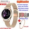 KW20 חכם שעון נשים Bluetooth מלא מסך יהלומי סגסוגת Smartwatch קצב לב צג ספורט גברת שעון עבור IOS Andriod