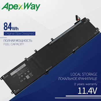 ApexWay 11.4V 84WH 4GVGH Laptop battery for dell Precision 5510 XPS 15 9550 series 1P6KD T453X 14 8v 58wh new original laptop battery for dell xps l511z l511x l412z 14z 15z series v79yo v79y0